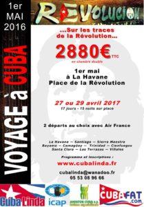 Flyers Voyage Révolution Cuba Linda