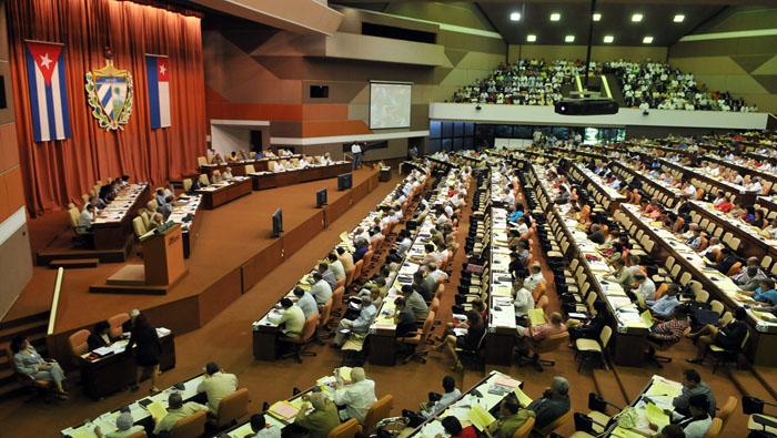 HAB07. LA HABANA (CUBA), 01/08/09.- Vista general del tercer periodo ordinario de sesiones de la Asamblea Nacional del Poder Popular hoy, 1 de agosto de 2009, en La Habana (Cuba). EFE/Alejandro Ernesto