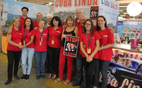 Fête de l'Huma : Membres de l'association CUBA LINDA
